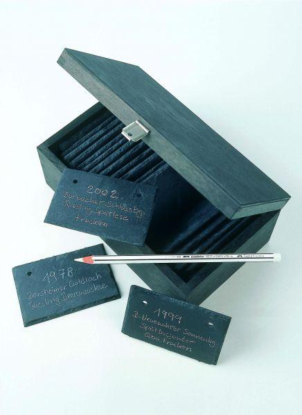 Schiefertafeln in Holzkiste - 25 Stück
