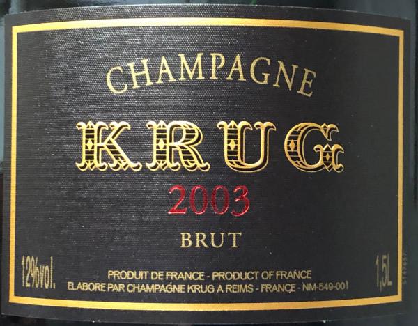 Krug Vintage 2003